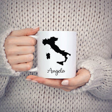 Load image into Gallery viewer, Italy Mug Travel Map Hometown Moving Gift