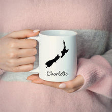 Load image into Gallery viewer, New Zealand Mug Travel Map Hometown Moving Gift