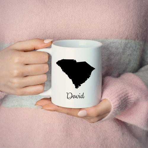 South Carolina Mug Adoption Moving Gift Travel State Map