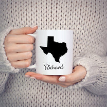 Load image into Gallery viewer, Texas Mug Adoption Moving Gift Travel State Map