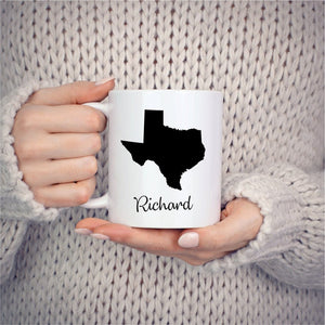 Texas Mug Adoption Moving Gift Travel State Map