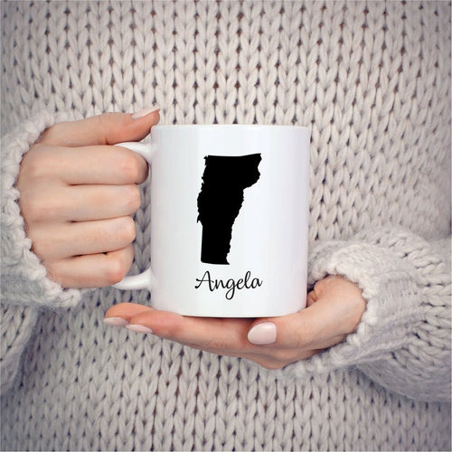 Vermont Mug Adoption Moving Gift Travel State Map