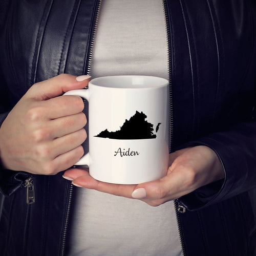 Virginia Mug Adoption Moving Gift Travel State Map