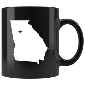 Georgia Coffe Mug - Black 11oz. - GA - MissionMint