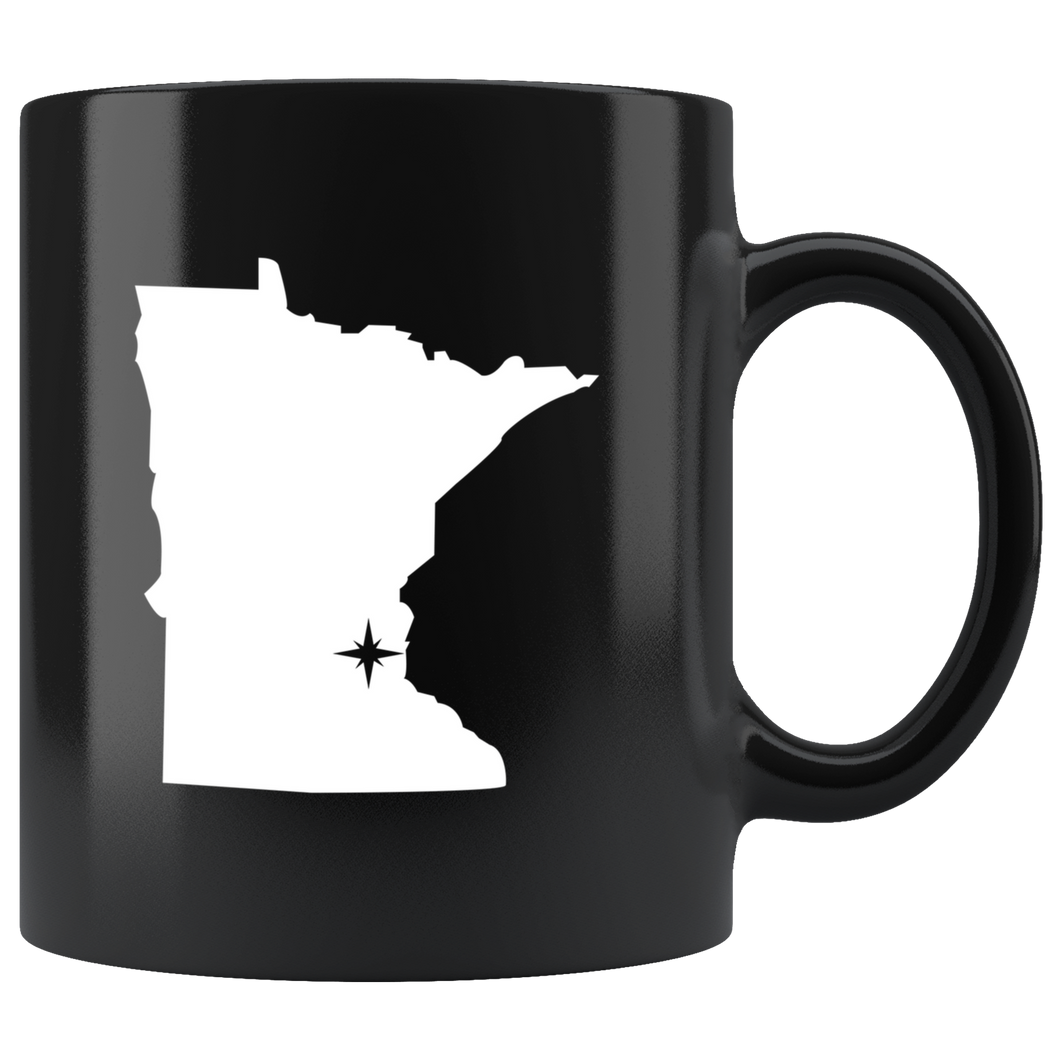 Minnesota Coffee Mug - Black 11oz. - MN - MissionMint