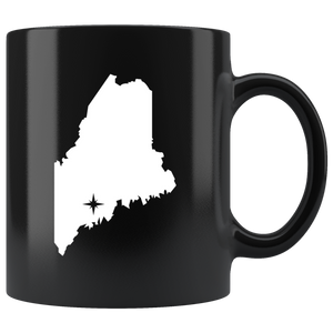 Maine Coffee Mug - Black 11oz. - ME - MissionMint