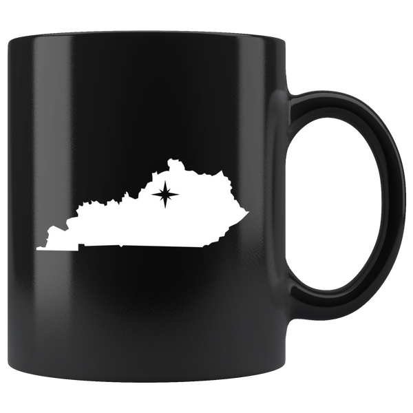 Kentucky Coffee Mug - Black 11oz. - KY - MissionMint