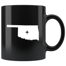 Load image into Gallery viewer, Oklahoma Coffee Mug - Black 11oz. - OK - MissionMint