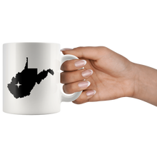 Load image into Gallery viewer, West Virginia Coffee Mug - White 11oz - WV - MissionMint