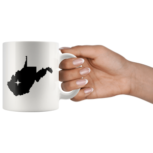 West Virginia Coffee Mug - White 11oz - WV - MissionMint