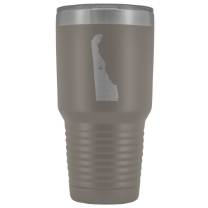 Delaware Tumbler Travel Map Adoption Moving Gift - 30oz - MissionMint