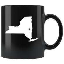 Load image into Gallery viewer, New York Coffee Mug - Black 11oz. - NY - MissionMint
