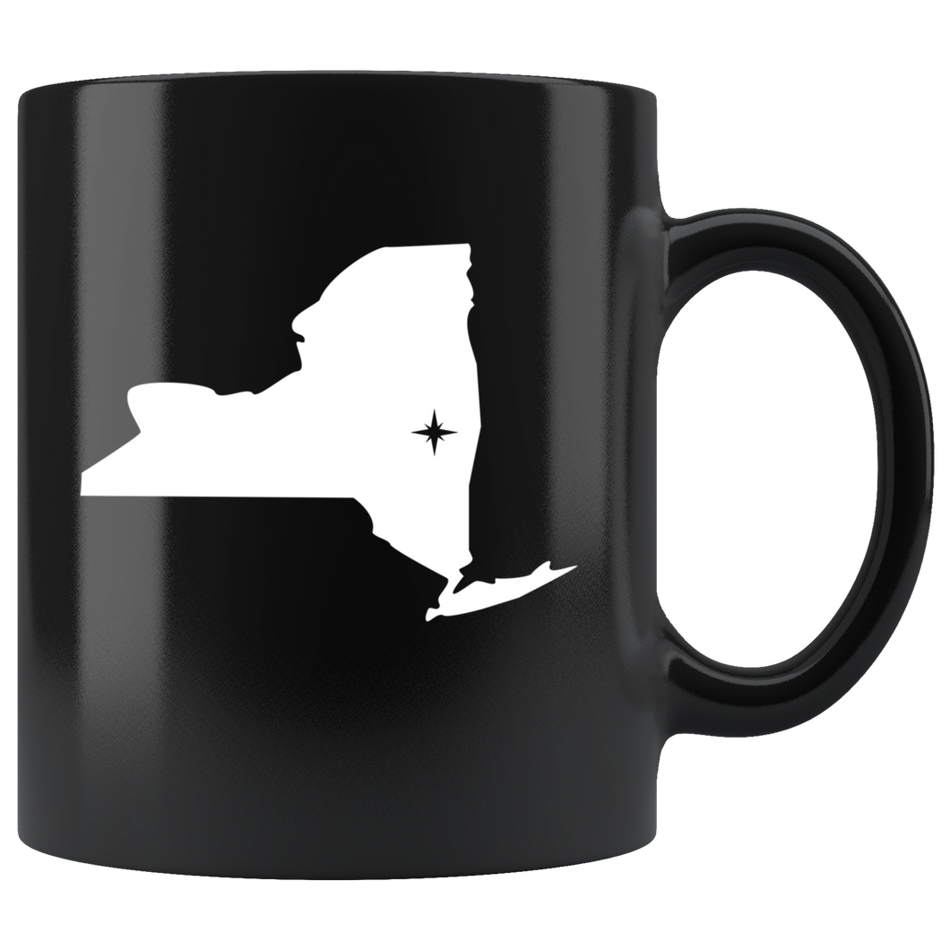 New York Coffee Mug - Black 11oz. - NY - MissionMint