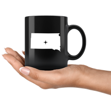 Load image into Gallery viewer, South Dakota Coffee Mug - Black 11oz. - SD - MissionMint