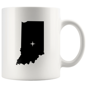 Indiana Coffee Mug - White 11oz - IN - MissionMint