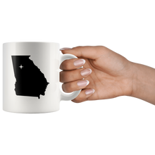 Load image into Gallery viewer, Georgia Coffee Mug - White 11oz - GA - MissionMint