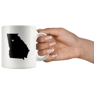 Georgia Coffee Mug - White 11oz - GA - MissionMint