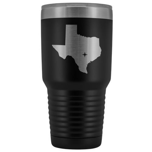 Texas Tumbler Travel Map Adoption Moving Gift - 30oz - MissionMint