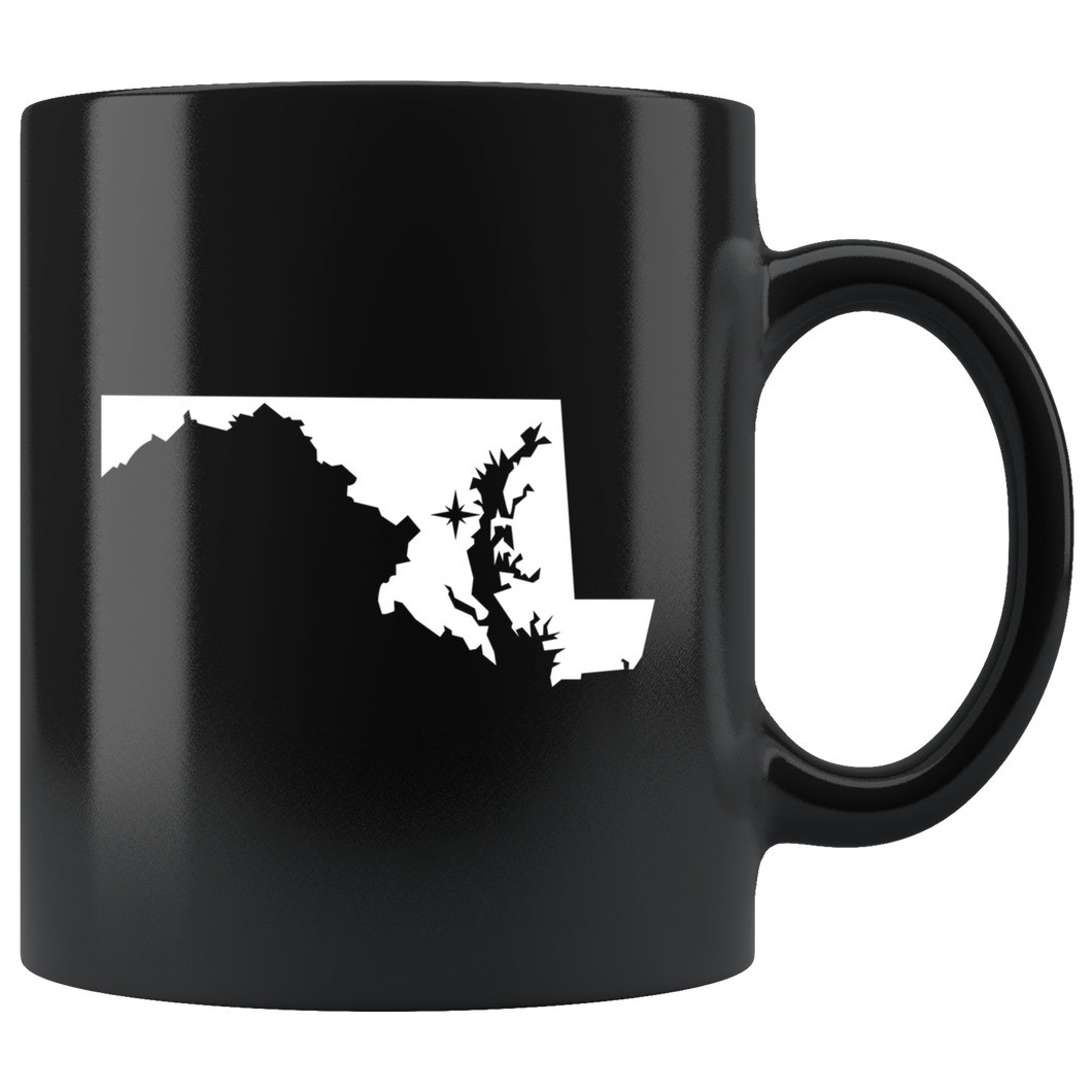 Maryland Coffee Mug - Black 11oz. - MD - MissionMint