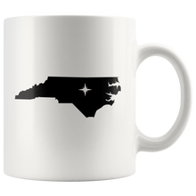 Load image into Gallery viewer, North Carolina Coffee Mug - White 11oz - NC - MissionMint