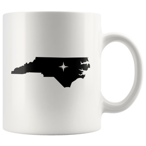 North Carolina Coffee Mug - White 11oz - NC - MissionMint