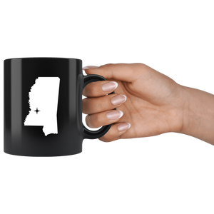 Mississippi Coffee Mug - Black 11oz. - MS - MissionMint