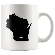 Load image into Gallery viewer, Wisconsin Coffee Mug - White 11oz - WI - MissionMint