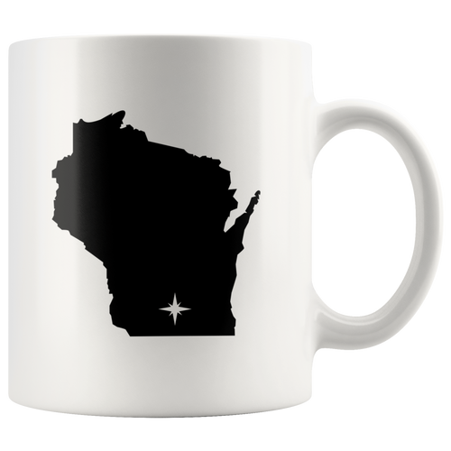 Wisconsin Coffee Mug - White 11oz - WI - MissionMint