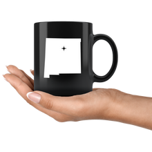 Load image into Gallery viewer, New Mexico Coffee Mug - Black 11oz. - NM - MissionMint