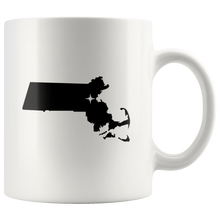 Load image into Gallery viewer, Massachusetts Coffee Mug - White 11oz - MA - MissionMint