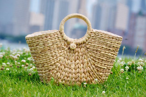 Woven Natural Straw Bag - MissionMint