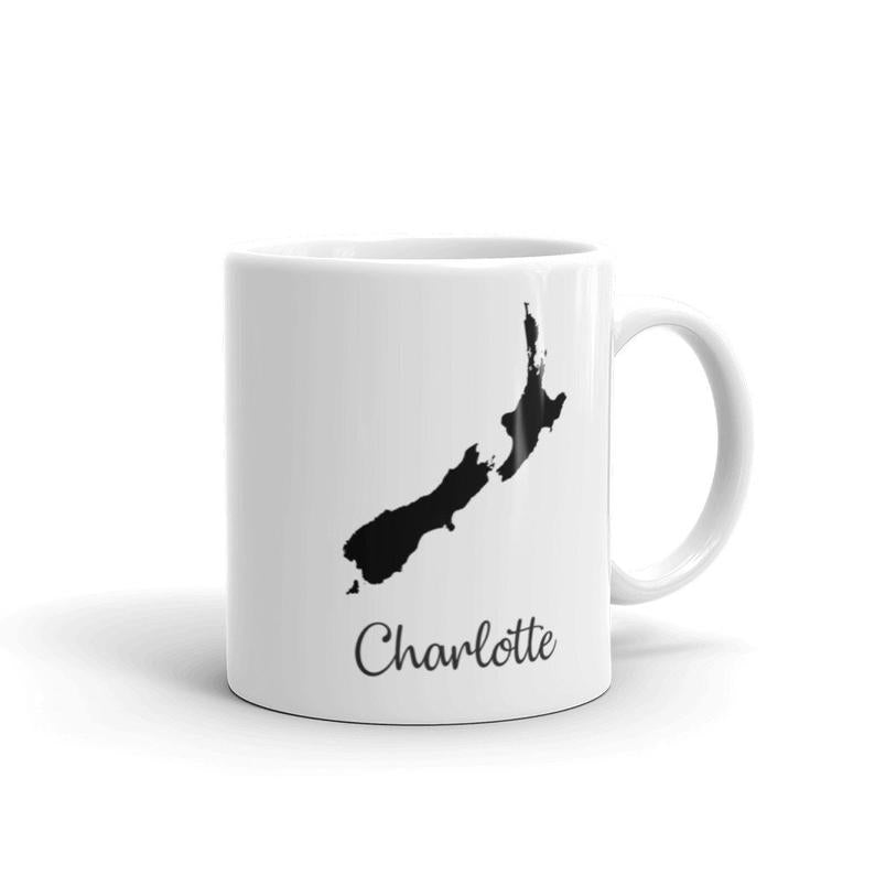New Zealand Mug Travel Map Hometown Moving Gift