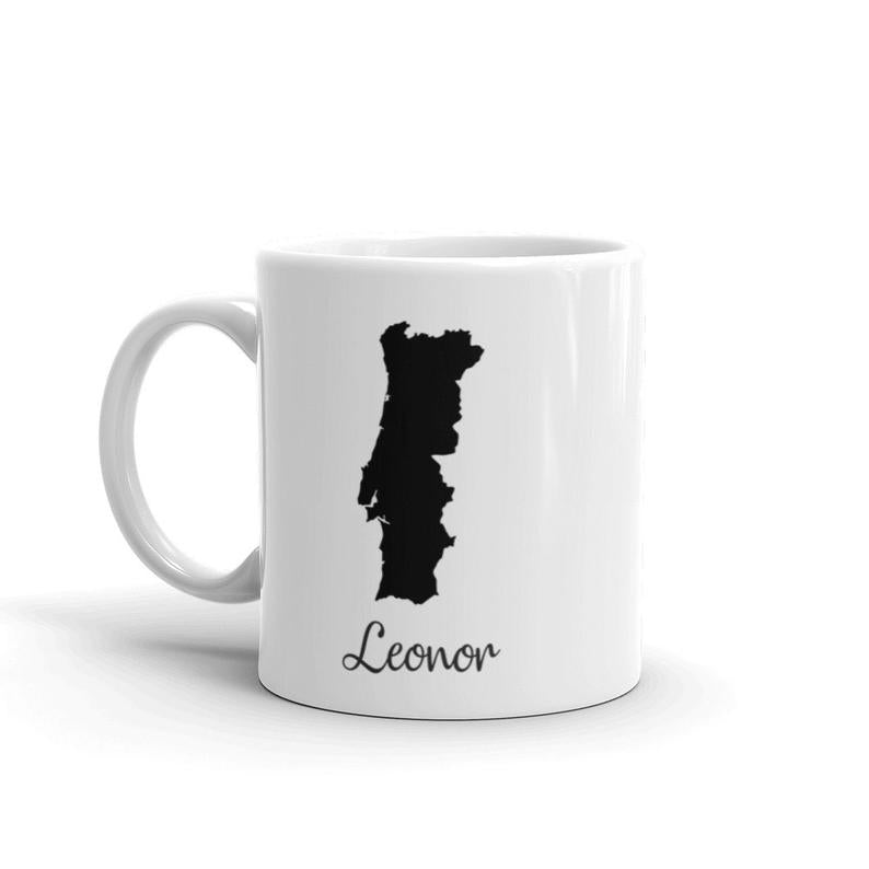 Portugal Mug Travel Map Hometown Moving Gift