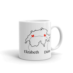Long Distance Custom Country Map Mug