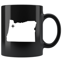 Load image into Gallery viewer, Oregon Coffee Mug - Black 11oz. - OR - MissionMint