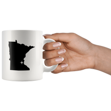 Load image into Gallery viewer, Minnesota Coffee Mug - White 11oz - MN - MissionMint