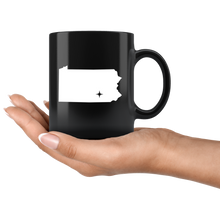 Load image into Gallery viewer, Pennsylvania Coffee Mug - Black 11oz. - PA - MissionMint