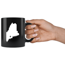 Load image into Gallery viewer, Maine Coffee Mug - Black 11oz. - ME - MissionMint