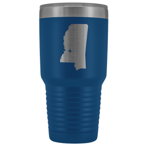 Mississippi Tumbler Travel Map Adoption Moving Gift - 30oz - MissionMint