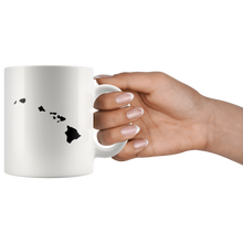 Load image into Gallery viewer, Hawaii Coffee Mug - White 11oz - HI - MissionMint
