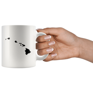 Hawaii HI Coffee Mug - White 11 oz