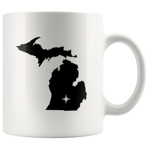 Michigan Coffee Mug - White 11oz - MI - MissionMint