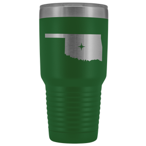 Oklahoma Tumbler Travel Map Adoption Moving Gift - 30oz - MissionMint