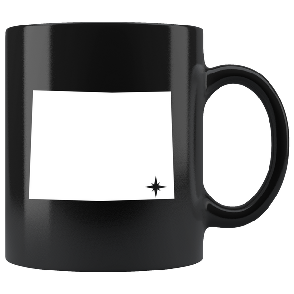 Wyoming Coffee Mug - Black 11oz. - WY - MissionMint