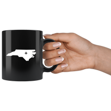 Load image into Gallery viewer, North Carolina Coffee Mug - Black 11oz. - NC - MissionMint