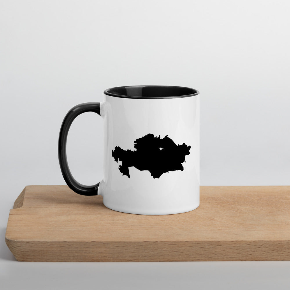 Kazakhstan Map Mug with Color Inside - 11 oz