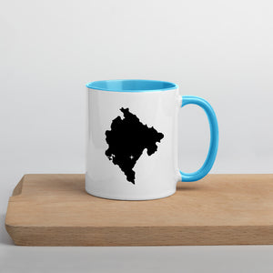 Montenegro Map Coffee Mug with Color Inside - 11 oz