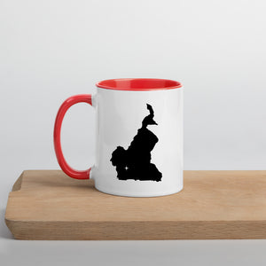 Cameroon Map Coffee Mug with Color Inside - 11 oz