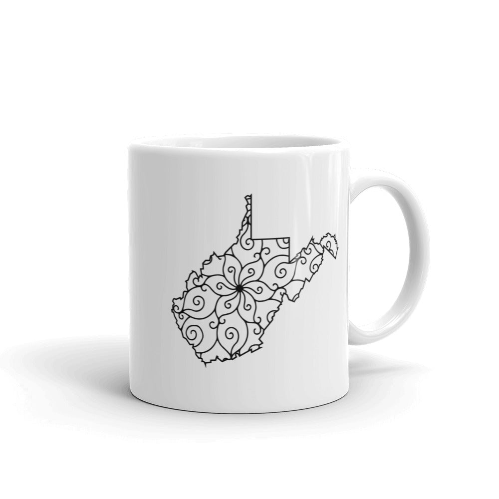 West Virginia WV Mandala Mug