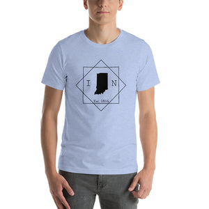 Indiana IN Short-Sleeve Unisex T-Shirt - MissionMint